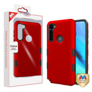 MyBat TUFF Subs Hybrid Case for Motorola Moto G Stylus - Titanium Red / Black