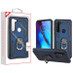 MyBat Anti-Drop Hybrid Protector Cover (with Ring Stand) for Motorola Moto G Stylus - Ink Blue / Black