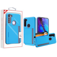 MyBat Poket Hybrid Protector Cover (with Back Film) for Motorola Moto G Stylus - Blue / Gray