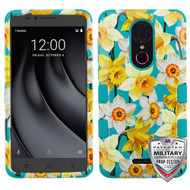 MyBat TUFF Hybrid Protector Cover [Military-Grade Certified] for Coolpad C3701A (Revvl Plus) - Spring Daffodils / Tropical Teal