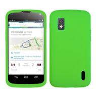 MyBat Solid Skin Cover for Lg E960 (Nexus 4) - Electric Green