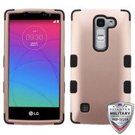 MyBat TUFF Hybrid Protector Cover [Military-Grade Certified] for Lg H443 (Escape 2) - Rose Gold / Black