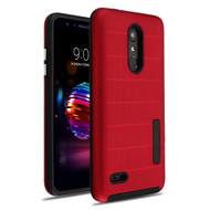 MyBat Fusion Protector Cover for Lg L413DL (Premier Pro) - Red Dots Textured / Black
