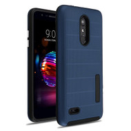 MyBat Fusion Protector Cover for Lg L413DL (Premier Pro) - Ink Blue Dots Textured / Black