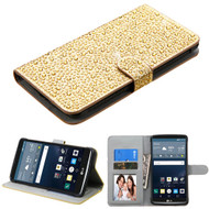 MyBat Diamante MyJacket Wallet for Lg LS770 (G Stylo) - Gold