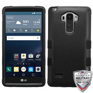 MyBat TUFF Hybrid Protector Cover [Military-Grade Certified] for Lg LS770 (G Stylo) - Natural Black / Black