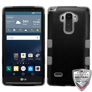 MyBat TUFF Hybrid Protector Cover [Military-Grade Certified] for Lg LS770 (G Stylo) - Natural Black / Iron Gray
