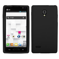 MyBat Solid Skin Cover for Lg P769 (Optimus L9) - Black