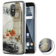 MyBat Krystal Gel Series Candy Skin Cover for Lg Stylo 3 Plus - Big Ben (Transparent Clear)