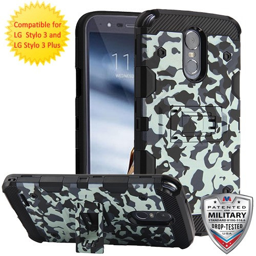 MyBat Storm Tank Hybrid Protector Cover [Military-Grade Certified] for Lg Stylo 3 Plus - Urban Camouflage / Black
