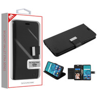 MyBat MyJacket Wallet Xtra Series for Lg Stylo 4 Plus - Black / Black