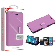 MyBat MyJacket Wallet Xtra Series for Lg Stylo 4 Plus - Purple / Dark Blue