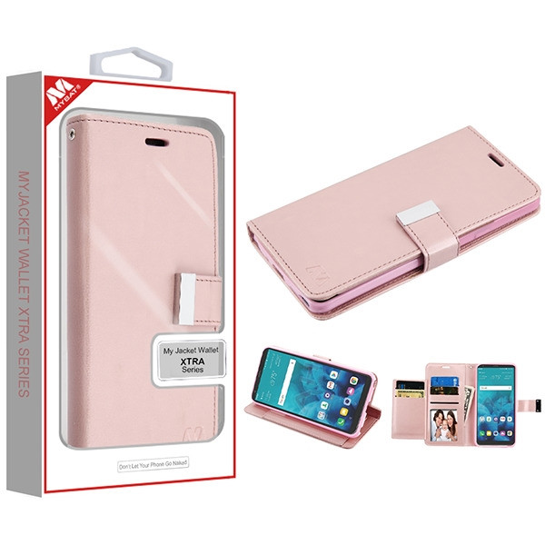 MyBat MyJacket Wallet Xtra Series for Lg Stylo 4 Plus - Rose Gold