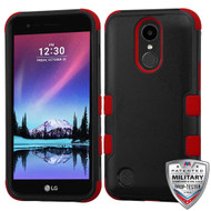 MyBat TUFF Hybrid Protector Cover [Military-Grade Certified] for Lg V5/TP2608 (K20 PLUS) - Natural Black / Red