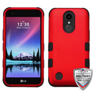 MyBat TUFF Hybrid Protector Cover [Military-Grade Certified] for Lg V5/TP2608 (K20 PLUS) - Titanium Red / Black