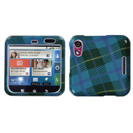 MyBat Protector Cover for Motorola MB511 (Flipout) - Blue Plaid Weave