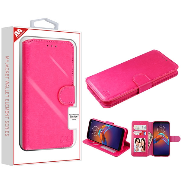 MyBat MyJacket Wallet Element Series for Motorola Moto E6 Play - Hot Pink