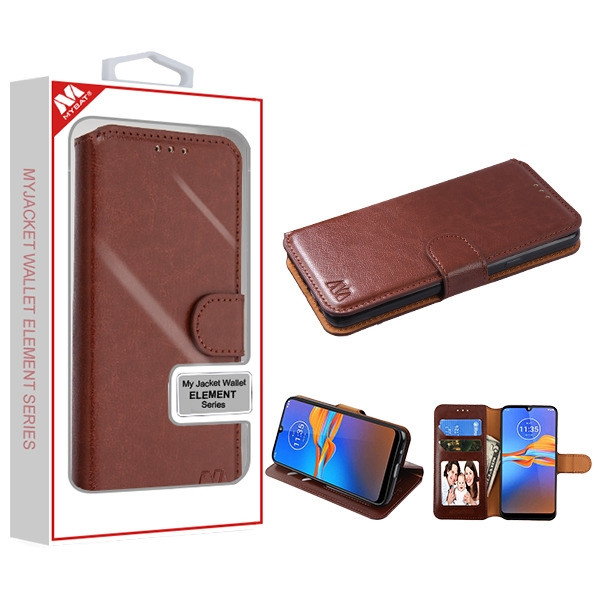 MyBat MyJacket Wallet Element Series for Motorola Moto E6 Plus - Brown