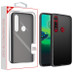 MyBat Frost Hybrid Protector Cover for Motorola Moto G8 Play - Semi Transparent Smoke Frosted / Rubberized Black