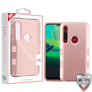 MyBat TUFF Hybrid Protector Cover [Military-Grade Certified] for Motorola Moto G8 Play - Rose Gold / Rose Gold