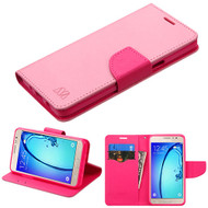 MyBat Liner MyJacket Wallet Crossgrain Series for Samsung G550 (On5) - Pink Pattern / Hot Pink
