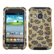 MyBat Diamante Protector Cover for Samsung i547 (Galaxy Rugby Pro) - Leopard Skin / Camel