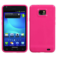 MyBat Candy Skin Cover for Samsung I777 (Galaxy S II) - Solid Hot Pink