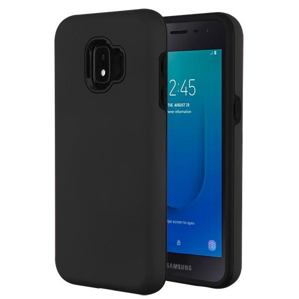 MyBat Fuse Hybrid Protector Cover for Samsung J260 (Galaxy J2 Core) - Rubberized Black / Black
