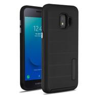 MyBat Fusion Protector Cover for Samsung J260 (Galaxy J2 Core) - Black Dots Textured / Black