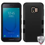 MyBat TUFF Hybrid Protector Cover [Military-Grade Certified] for Samsung J260 (Galaxy J2 Core) - Rubberized Black / Black