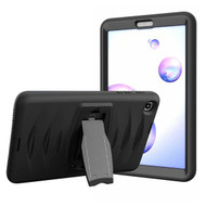 MyBat Shock Wave Heavy Duty Rugged Protector Cover (with Stand) for Samsung T307 (Galaxy Tab A 8.4 (2020)) - Black / Black