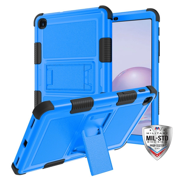 MyBat TUFF Hybrid Protector Case (with Stand)[Military-Grade Certified] for Samsung T307 (Galaxy Tab A 8.4 (2020)) - Natural Dark Blue / Black
