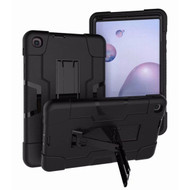 MyBat Symbiosis Stand Protector Cover for Samsung T307 (Galaxy Tab A 8.4 (2020)) - Black / Black