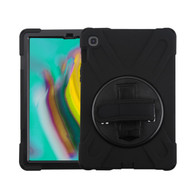 MyBat Rotatable Stand Protector Cover (with Wristband) for Samsung T720 (Galaxy TAB S5E 10.5) - Black / Black