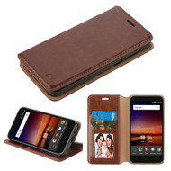 MyBat MyJacket Wallet Element Series for Zte N9137 (Tempo X) - Brown