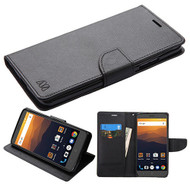 MyBat Liner MyJacket Wallet Crossgrain Series for Zte N9560 Max XL - Black Pattern / Black
