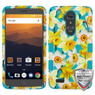 MyBat TUFF Hybrid Protector Cover [Military-Grade Certified] for Zte N9560 Max XL - Spring Daffodils / Tropical Teal