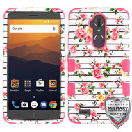 MyBat TUFF Hybrid Protector Cover [Military-Grade Certified] for Zte N9560 Max XL - Pink Fresh Roses / Electric Pink