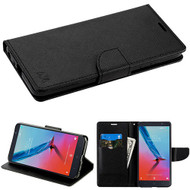 MyBat Liner MyJacket Wallet Crossgrain Series for Zte Sequoia - Black Pattern / Black