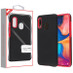 MyBat Fuse Hybrid Protector Cover for Samsung Galaxy A20 - Rubberized Black / Metallic Red