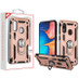 MyBat Anti-Drop Hybrid Protector Cover (with Ring Stand) for Samsung Galaxy A20 - Rose Gold / Black