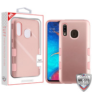 MyBat TUFF Hybrid Protector Cover [Military-Grade Certified] for Samsung Galaxy A20 - Rose Gold / Rose Gold