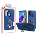 MyBat Hybrid Protector Cover (with Ring Holder Kickstand Bottle) for Samsung Galaxy A21 - Ink Blue / Black