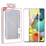 MyBat Sturdy Gummy Cover for Samsung Galaxy A51 5G - Highly Transparent Clear / Transparent Clear
