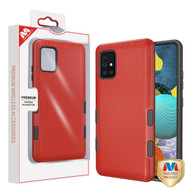 MyBat TUFF Subs Hybrid Case for Samsung Galaxy A51 5G - Natural Red / Black