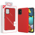 MyBat Fuse Hybrid Protector Cover for Samsung Galaxy A51 5G - Rubberized Red / Black