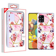 MyBat Fusion Protector Cover for Samsung Galaxy A51 5G - Electroplated Roses Marbling