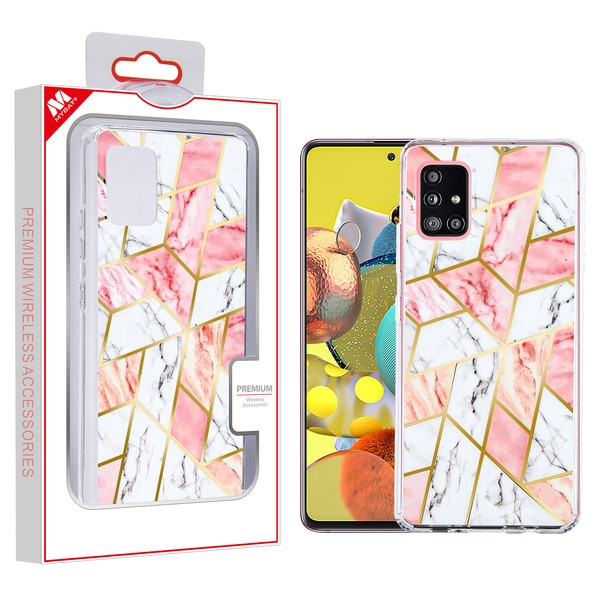 MyBat Fusion Protector Cover for Samsung Galaxy A51 5G - Electroplated Pink Marbling