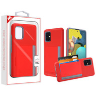 MyBat Poket Hybrid Protector Cover (with Back Film) for Samsung Galaxy A51 5G - Red / Gray