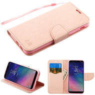 MyBat Liner MyJacket Wallet Crossgrain Series for Samsung Galaxy A6 (2018) - Rose Gold Pattern / Rose Gold